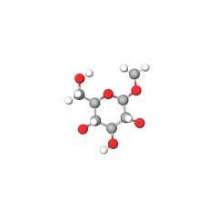 methyl-d-glucopyranoside-model