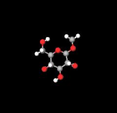 methyl-d-glucopyranoside-model