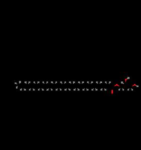 Glyceryl behenate (structural formula)