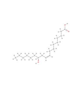 Ricinoleic acid (Structural Formula)